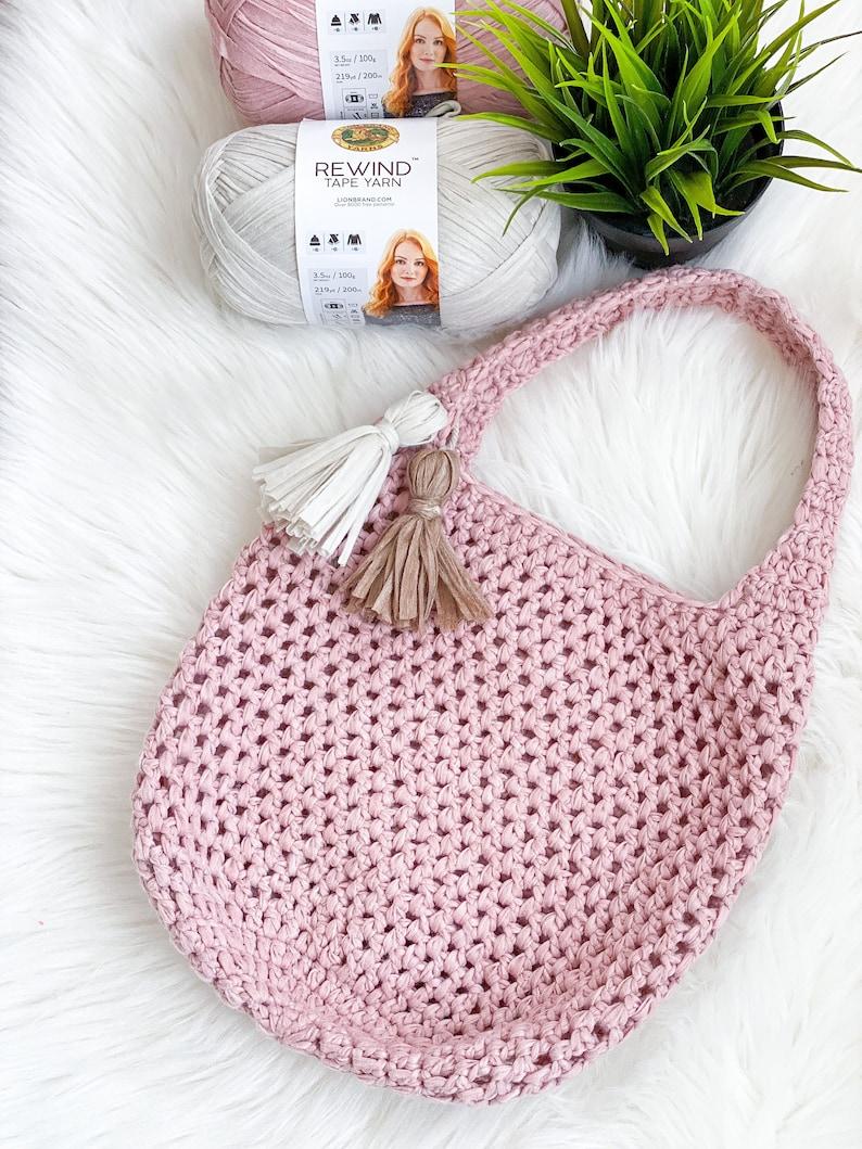 Market Tote Crochet Pattern Crochet Tote Bag Pattern Daisy image 0