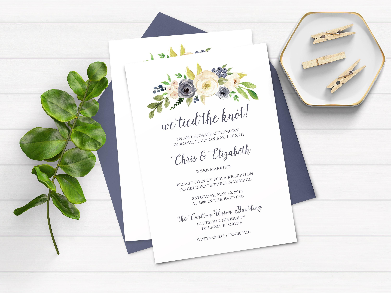 Elopement Wedding Invitations: Elopement Party Invitations We Eloped Party Invitations We