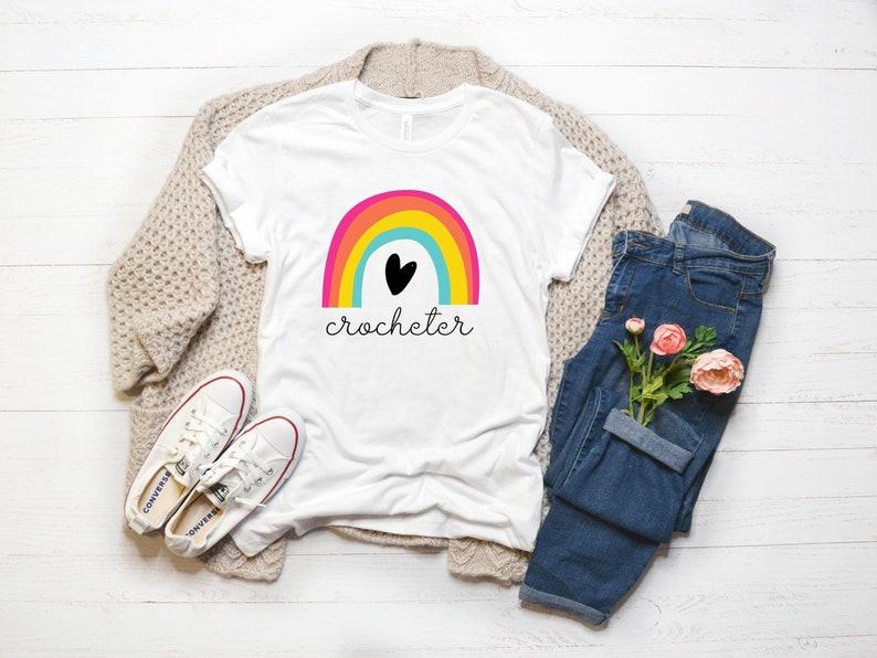 Crochet Lover T-shirt Yarn Lover Tee Shirt Crochet Shirt image 0