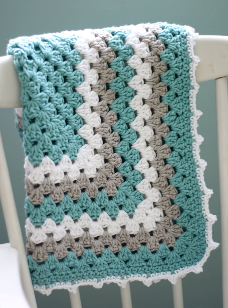 Daisy Cottage Designs Granny Square Blanket Crochet Pattern image 0