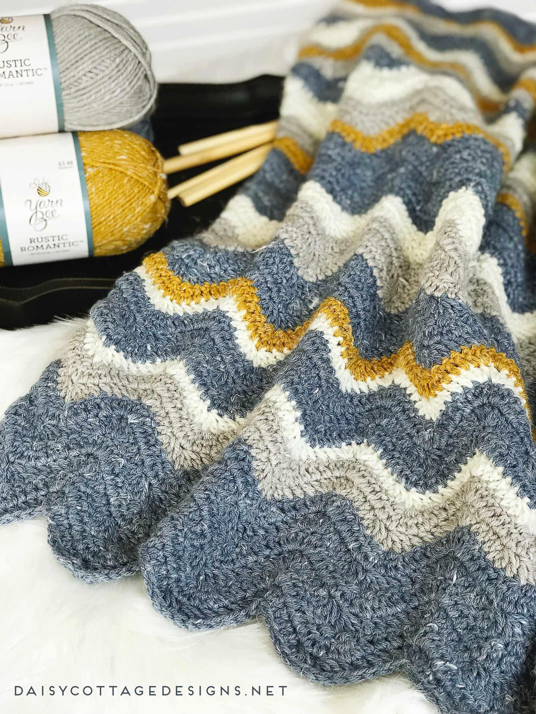 Crochet Pattern Crocheting Chevron Crochet Blanket Pattern Etsy