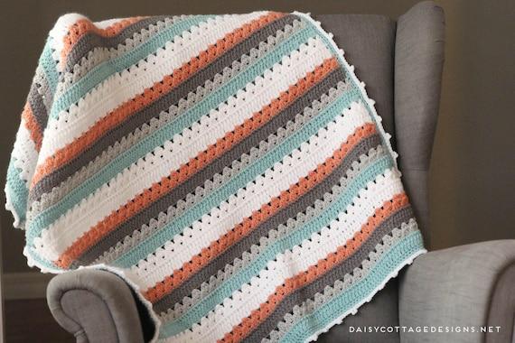 Crochet Pattern Crocheting Simple Crochet Blanket Pattern Etsy