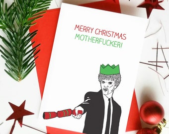 Rude christmas cards | Etsy
