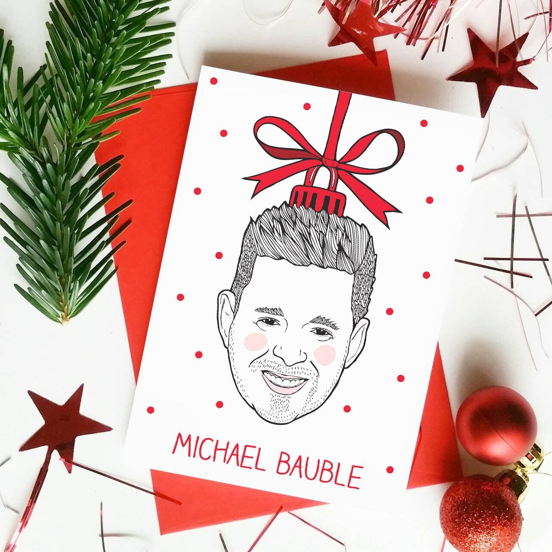 Michael Bublé Christmas Card Christmas Puns Bauble | Etsy