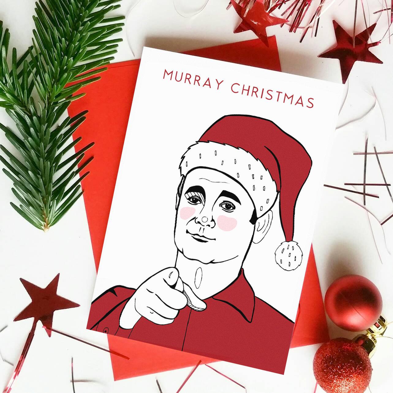 Funny Bill Murray Christmas Card \'Murray Christmas\' | Etsy
