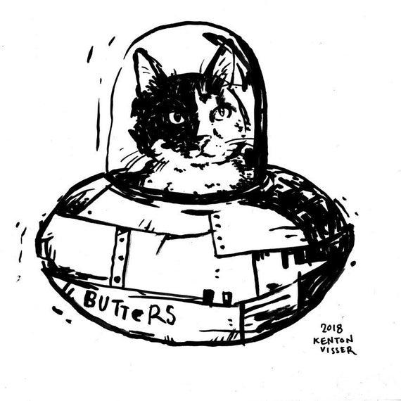 Small Custom Pet Portrait Ink Drawing Custom Art Dog Cat Bird Etsy