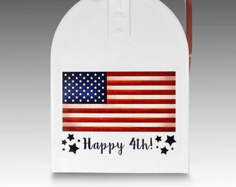 Handmade Finished 4th of July Patriotic Heart Refrigerator Magnet