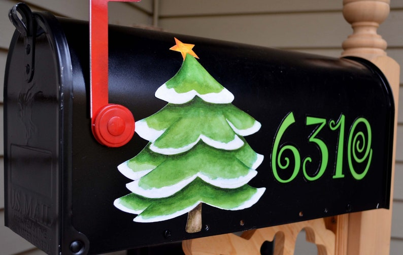 Car Christmas Tree Topper.Mailbox Magnet Partial Cover Door Car Christmas Tree Personalized Address Set Of 4 Numbers Black Mail Box Decal Post Mailbox Topper Car