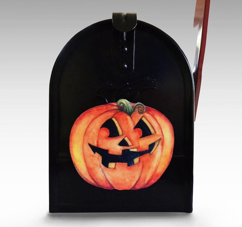 Mailbox Magnet Partial Cover Smiling Pumpkin Jack o Lantern Halloween Decorations Decor for Standard Mailbox Not a Decal  Fridge Magnets Car