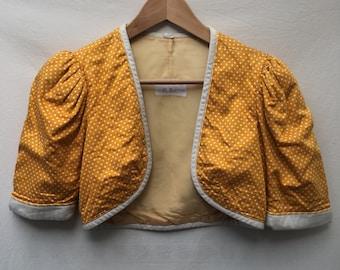 Size 8 Yellow polkadot bolero jacket
