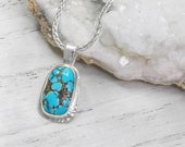 Turquoise feminine layering necklace, High grade turquoise gemstone, Fine Jewelry Gifts For Women, Dainty necklaces for women