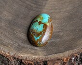 Kingman Turquoise Cabochon Gemstone, Mint green gemstone with a chocolate matrix, Hand cut gem for jewelers, USA stones, Jewelry making cabs