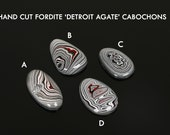 Fordite 'Detroit Agate' Cabochons, Custom Cut Gemstones, jewelry making supplies, gems for jewelers, USA made