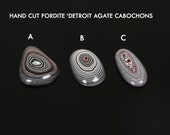 Fordite cabochons, Detroit Agate gemstones, Custom Cut cabs, freeform gemstones, jewelry making supplies, gems for jewelers, USA made cabs