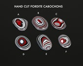 Hand Cut Fordite Cabochons, Jewelry making supplies, Gems for jewelers, USA made