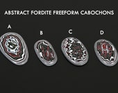 Fordite Cabochons, Freeform Custom Cut Gemstones, jewelry making supplies, gems for jewelers, USA made fordite