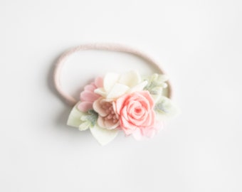 4a6b86a698a6 Felt Flower headband