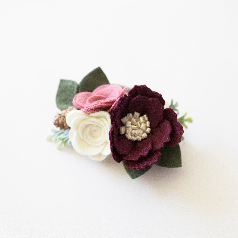 Christmas flower headband christmas flower crown christmas etsy zoom izmirmasajfo