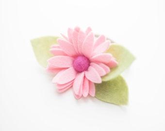 baby felt flower, felt flower headband, flower headband, felt flower clip, flower clip, baby clip, baby headband, baby girl headband