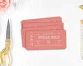Escort Card, Table Number, Ticket Stub, Editable Invitation, Reception Table, Editable PDF, Editable File, Instant Download, DIY Printable