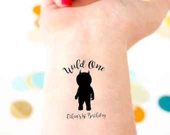 Where The Wild Things Are Birthday Tattoos Two Wild 2nd Etsy