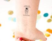 Astronaut Emergency Tattoo, Safety Tattoo, Kids Tattoo, lost tattoo, Contact Information Tattoo, Custom Tattoo, Space Tattoo