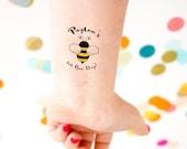 Bee Day Tattoos, Bee Birthday Party, Honey Bee Birthday, Kids Birthday, Kids Tattoo, Custom Tattoo, Bee Party, 1st Birthday, First Birthday