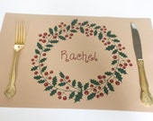 Christmas Placemats, Printable Placemats, Paper Placemats, Name Cards, Table Setting, Instant Download, Christmas Placemat, Dinner Party