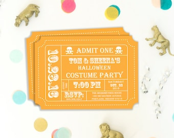 halloween party invitation ticket invitation invitation template instant download party template printable editable diy template