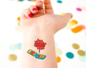 Safety Temporary Tattoos,  Custom Cell Phone Tattoos, If Lost Call, Retro Cell Phone,  Emergency Contact Tattoo, Kids Safety, Lost Tattoo