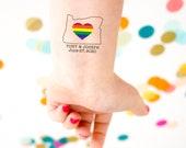 LGBT Gay Wedding Bachelor Bachelorette Party Temporary Tattoos, Custom Tattoo, Personalized Tattoo, Gay Tattoo, LBGTQ Tattoo, Party Favor