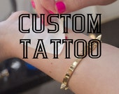 A Custom Order custom tattoo design, custom tattoo order, customized tattoos, personalized tattoos, KMD, approved design