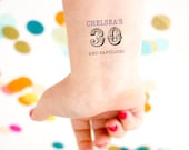 30 & Fabulous Temporary Tattoos, Fabulous Thirty, Dirty Thirty, 30th Birthday Party, Personalized Tattoo, Custom Tattoos, Dirty 30