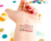 Vegas Bachelorette Tattoos, What happens in Vegas, Stays in Vegas, Viva Las Vegas, Vegas Baby!, Sin City Custom Tattoo