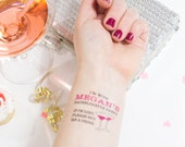 If lost Buy Me A Drink Temporary Tattoos, Bachelorette Party Favor, Custom Tattoo, Bachelorette Tattoo,  Martini, Hen Party, Fake Tattoo
