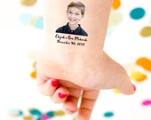 Bar Mitzvah Tattoo, Party Tattoo, Bar Mitzvah Favors, Custom Portrait, Head Tattoo, Face Tattoo, Bat Mitzvah, Custom Tattoo, Photo tattoo
