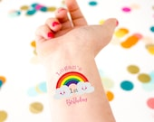 Rainbow Tattoos, Rainbow Theme, Rainbow Birthday, Kids Birthday, Kids Tattoo, Custom Tattoo, Rainbow Party,