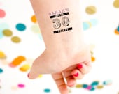 Dirty 30 Tattoos, Personalized Temporary Tattoos, Dirty Thirty, 30th Birthday Party, Customized Tattoo Party Favor, Thirtieth Birthday Party