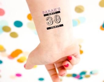 Talk Thirty To Me Tattoo Flash Tat custom Gold Tattoo 30th Birthday Tattoo 30th Birthday Foil Tattoo Dirty Thirty Dirty 30 Tattoo