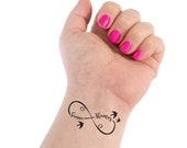 Infinity Tattoo, Wedding Tattoo, Couple Tattoo, Infinity Symbol, Name Tattoo, Cursive Names, Custom Tattoo, Personalized Tattoo