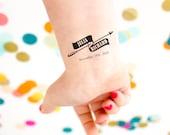 Arrow Tattoos, Wedding Temporary Tattoos,Retro Tattoo, Retro Wedding Favor, Custom Tattoo, Tattoo Favors, Bow and Arrow, Wedding Logo