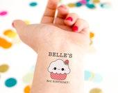Cupcake Temporary Tattoos, Kid birthday, kid tattoo,  Party Favors, Birthday tattoo, Cupcake tattoo, Custom Tattoo, Girl Birthday
