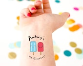 Popsicle Tattoo, Kids Birthday, Temporary Tattoo, Custom Tattoo, Birthday Party, Party Favor, Baby Birthday, Girl Birthday, Summer Birthday