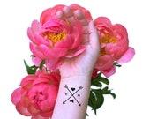 Wedding Temporary Tattoo, Arrow Tattoo, Heart Initials and State Tattoo, Custom Tattoos, Reception Favors, Hipster Wedding, Wedding Logo