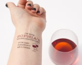 Wine Bachelorette Party Tattoos, If Lost, Buy Me a Drink, Temporary Tattoo, Custom Tattoo, Bachelorette Tattoo, Wine Tasting Bachelorette