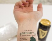 St. Patrick's Day Temporary Tattoo, if I'm lost, buy me a drink- Party Favors, Shamrock, Irish St. Paddy, Custom Tattoo, Personalized Tattoo
