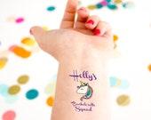 Unicorn Bachelorette Tattoo, Temporary Tattoos, Bachelorette Party, Unicorn Theme, Unicorn Party, Custom Tattoo, Bachelorette Tattoo,