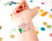 Mexican Bachelorette Party Temporary Tattoos, If Lost, Buy Me a Drink, Custom Tattoos, Margarita Bachelorette, Cactus, Fiesta Bachelorette