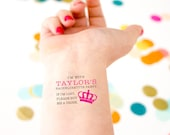 Bachelorette Temporary Tattoos, If Lost, Buy Me a Drink, Crown, Queen, Yas Queen, Personalized Tattoos, Custom Tattoo, Bachelorette Party