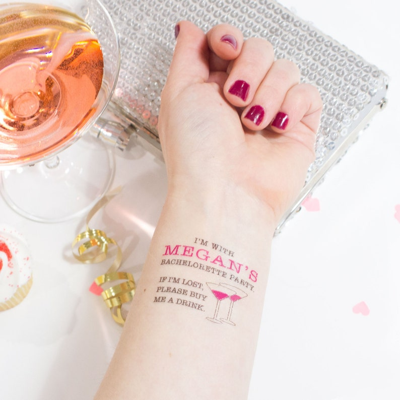 If lost Buy Me A Drink Temporary Tattoos Bachelorette Party image 0